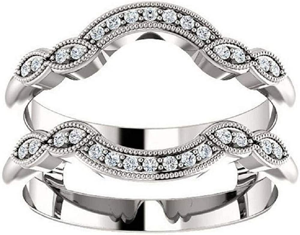 Ismatara Wholesale Round Cut White Diamond Max 51% OFF in 925 Silver Whit Sterling 14K