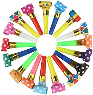 Koogel Party Blower,100 Pcs Multicolor Musical Blowouts, Birthday Party Favors, New Years Party Noisemakers ,Party Blowouts Whistles, Party Blowouts, Fun Party Favors