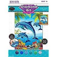 Cra-Z-Art Timeless Creations Diamond Art Jewel by Dolphins 9 X 12