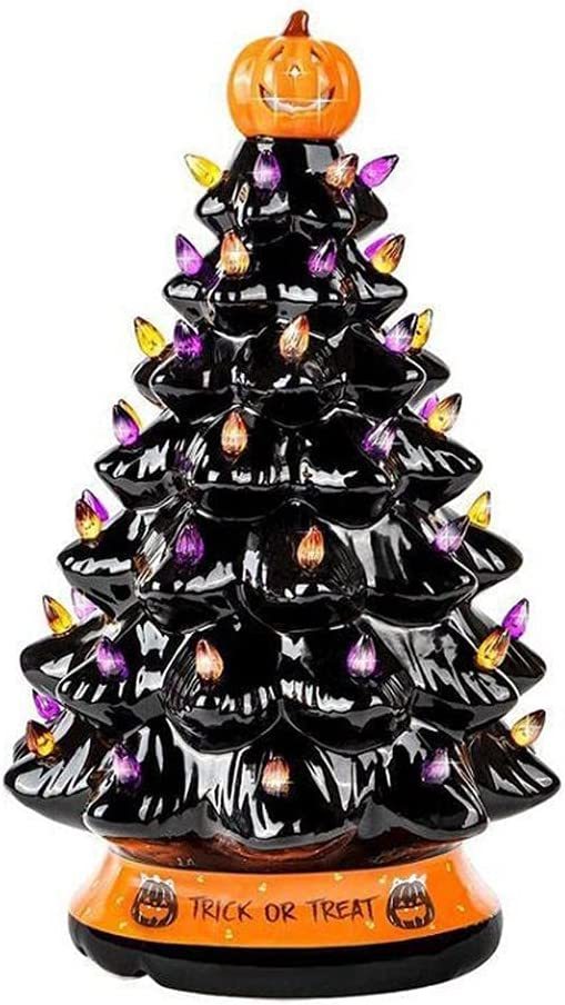 Brteyes Halloween San Francisco Mall Decorations Desktop Outlet sale feature Orn Glowing Christmas Tree
