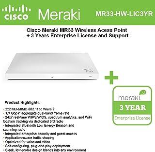 Cisco Meraki MR33 Cloud Managed Wless AP + 3 años de licencia y soporte para empresas
