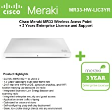 Cisco Meraki MR33 Cloud Managed Wless AP + 3 years of Enterprise Lic. and Support