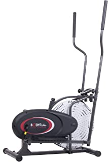 Body Rider Fan Elliptical Trainer with Air Resistance System, Black/Red/Silver BR1958