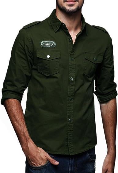 Camisa para Hombre Camisa De Manga Larga para Hombre Camisa ...