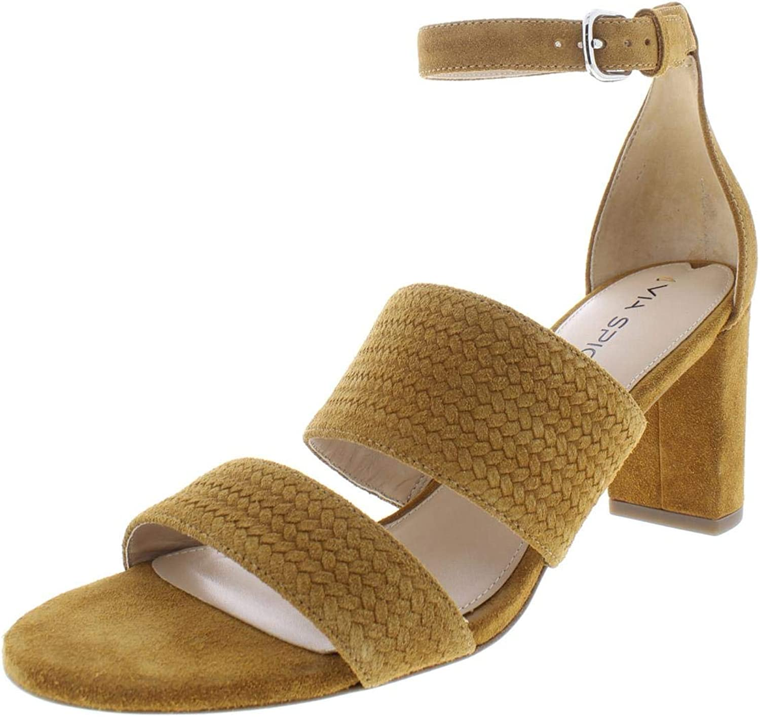 Via Spiga Womens Wendolin1 Suede Textured Heels