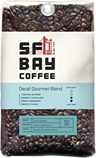 San Francisco Bay Coffee, DECAF Gourmet Blend- Whole Bean, 2-Pound (32 oz.), Swiss Water Process- Decaffeinated