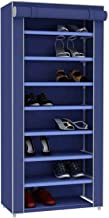 Sunbeam Multipurpose Portable Dust Free Wardrobe Storage Closet Rack For Shoes and Clothing 7 Tier/Fits 24 Pairs of Shoes ...