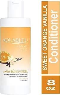 Aquableu Sweet Orange Vanilla Conditioner - Natural Moisturizing, Keratin Home Care Treatment - w/Silk Amino Acid - Silicone, Sulfate & Paraben Free - For color treated hair - For Men & Women. (8 oz.)