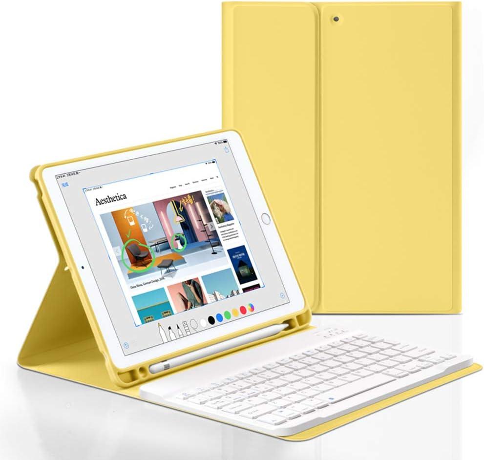 Bluetooth Keyboard Case for iPad Mini4 /5 7.9inch,Wireless Detachable iPad Keyboard Case with Pencil Holder(Yellow)