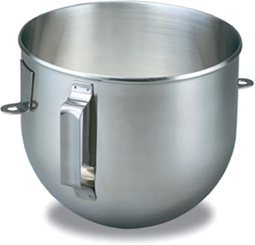 wholesale KitchenAid K5ASB Brushed Stainless 2021 Steel 5 Quart online sale Mixing Bowl with Handle for Bowl Lift Stand Mixers sale