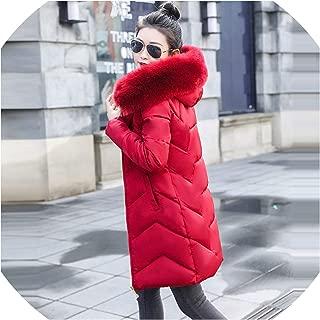 2019 Winter Female Long Jacket Fur Collar Winter Coat Women Parka Women's Warm Down Jacket Coat
