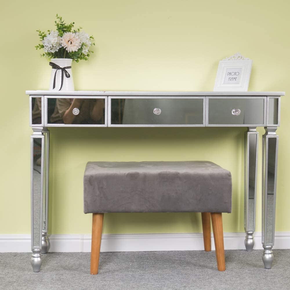 Pannow Genuine Mirrored Console Table Makeup Vanity store Desk