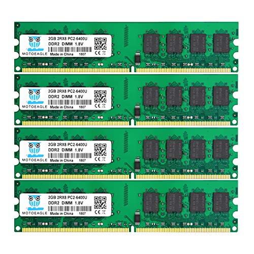 motoeagle 8GB Kit (4x2GB) DDR2 800 MHz PC2-6300 PC2-6400U 1.8V 240-PIN DIMM Desktop-Speicher