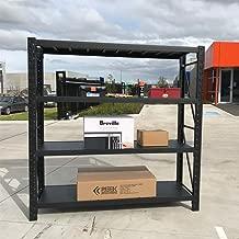 150x200cm Metal Warehouse Racking Storage Garage Shelving Steel Shelf 800kg Shelves (Matte Black)