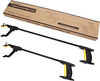 Zhenzhen 2-Pack 32 Inch and 24 Inch Grabber Reacher Tool, Picking Tool, Family Set Grabber Tool, Mobility Aid Reaching Assist Tool, Trash Picker, Litter Pick Up, Arm Extension Picker for Adults