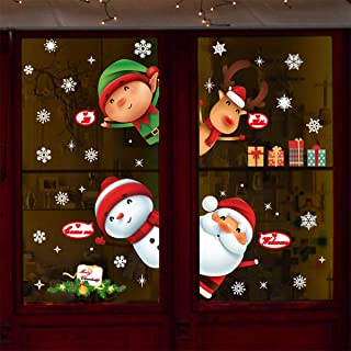 O-Kinee Navidad Decoracion, Calcomania Vitrificable, Adhesivo Ventana Navidad, Pegatinas Navidad para Ventanas Escaparates Puerta