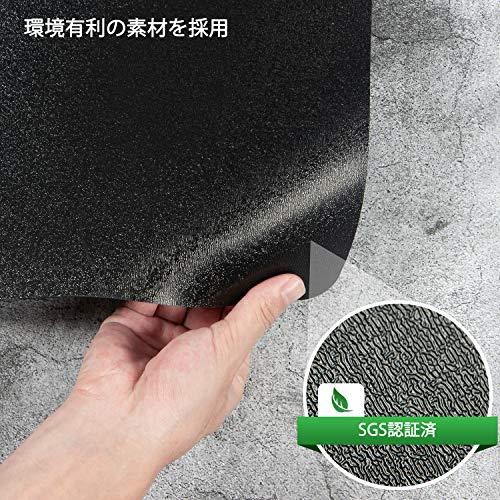 デスクごとチェアマットゲーミングチェアマットダイニングマット床保護マット特大サイズ160×130cmPVC抗菌防カビズレない厚さ1.5mm静電気防止無味無臭ソフトおしゃれキズ防止お手入れ簡単床暖房対応滑り止め(160*130cm,ブラック)