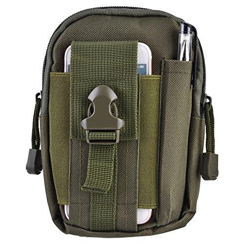Alomejor Gürteltasche, strapazierfähig, wasserfest, multifunktional, Unisex, für den Außenbereich, tragbare Sporttasche, Armee-grün