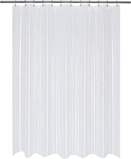 Mrs Awesome Long PEVA 8G Shower Curtain or Liner, Water Proof and Odorless, 72 x 78 inches,Clear