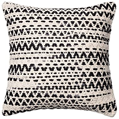 Loloi POLY SET PSETP0096GYMLPIL3 Cover with Poly Fill Decorative Accent Pillow, 22  x 22 , Grey/Multicolor