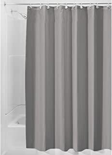 InterDesign Water Repellent And Mildew Resistant Fabric Shower Curtain 72 X 96