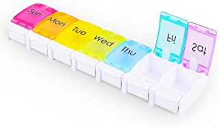 Pill Organizer, Myguru 7-Day Weekly Travel Pill Case Box with 7 Compartments for Pills