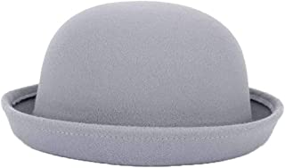 GOUNURE Womens Vintage Wool Felt Fedora Hats Floppy Wide Large Brim Trilby Cloche Cap Bowler Hat with Bow for Ladies