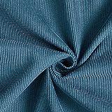 Fabulous Fabrics Cord Uni – Petrol — Meterware ab 0,5m