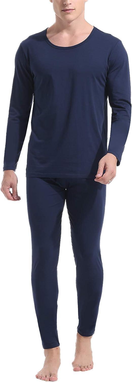 Amorbella Mens Cotton Thermal Underwear Long Johns Base Layer Set