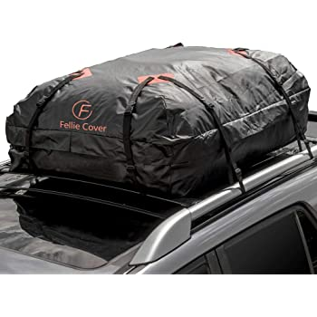 Sailnovo Car Roof Bag Cargo Carrier 21 Cubic Feet Waterproof Rooftop Luggage Bag Softshell Carriers with 10 Reinforced Straps and Storage Carrying Bag for All Vehicle with//Without Rack