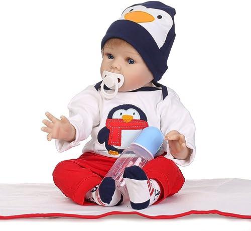 LLX Reborn Baby Doll Realistische Babys Puppen 22 Zoll 55 cm Lebensechte Spielzeug Kinder Geburtstagsgeschenk