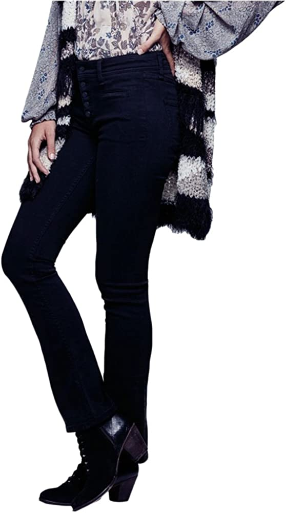 Free People Womens Flare Casual Trouser Pants