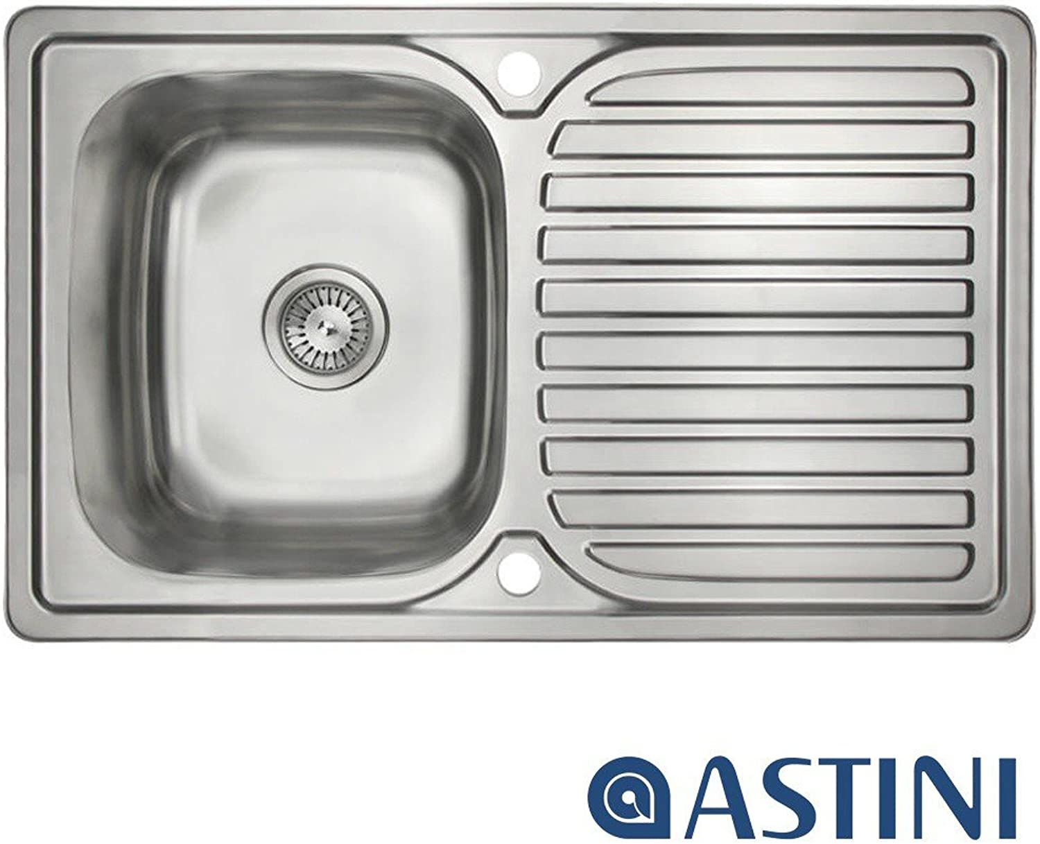 Astini Velia 1.0 Bowl Brushed Stainless Steel Kitchen Sink & Waste AS1347