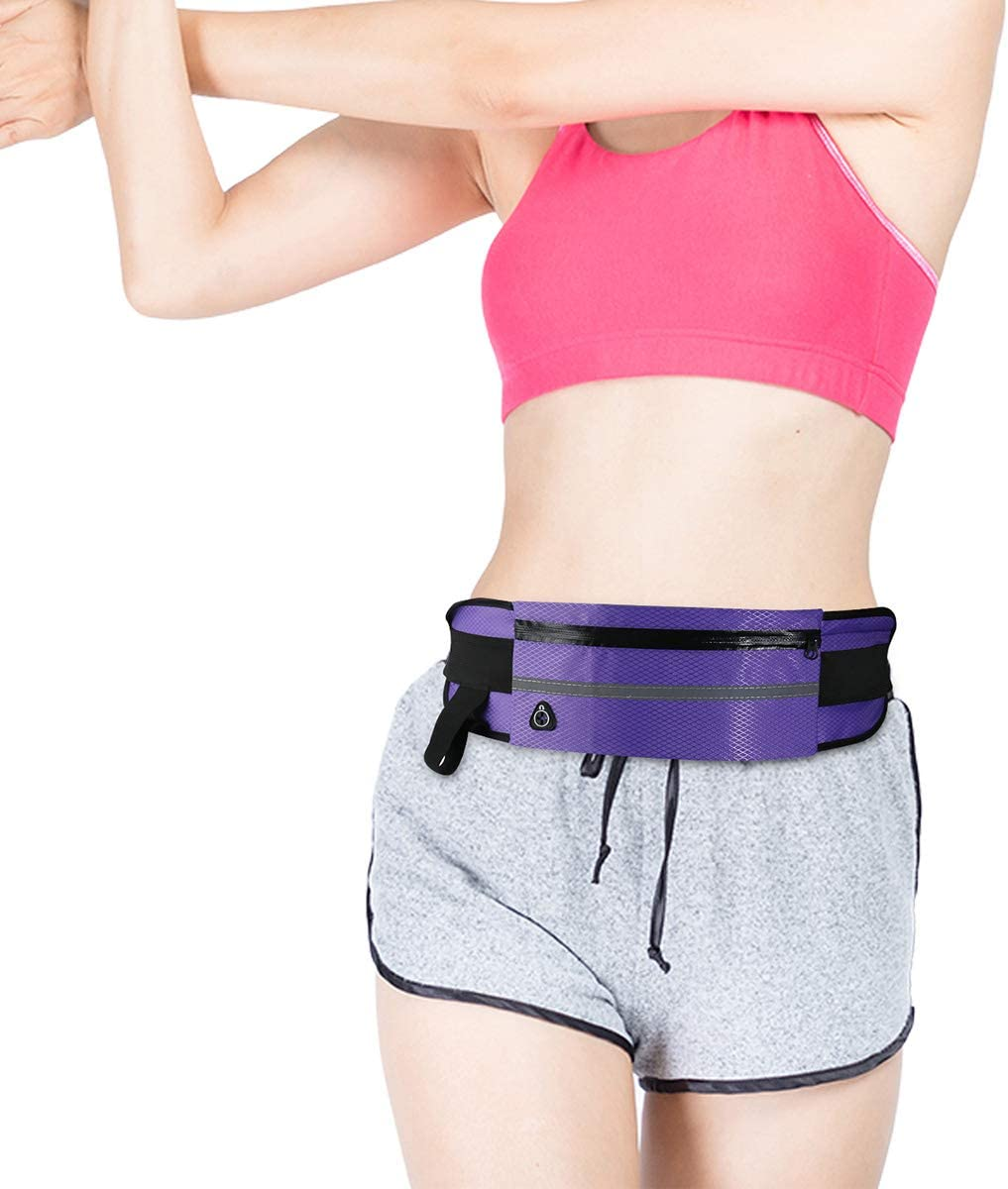 Nuoterm Fanny Pack Waist Bag for Unisex Ultra Thin Travel Waist Pack Light Waterproof Waist Pack Suitable for Phones and Tablets Up 6.5 inches Adjustable Belt Multifunction