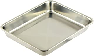 ナガオ 燕三条 角バット Sサイズ 24.8cm 下ごしらえ用 18-8ステンレス 21枚取 日本製