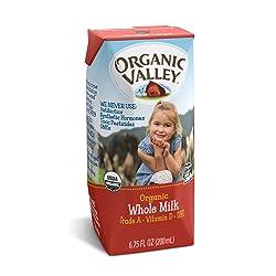 Organic Valley, Organic Whole Milk Single-serve Milk Box, 6.75 oz