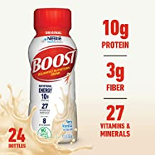 Boost Original Complete Nutritional Drink, Very Vanilla, 8 Fl Oz Bottle, 24 Count (Packaging May Vary)