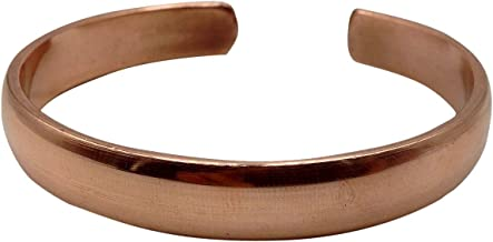 Healing Lama Hand Forged 100% Copper Bracelet. Made with Solid and High Gauge Pure Copper. Helps Reducing The Joint Pain and Stiffness, Joint Related Inflammation and Skin Allergies.