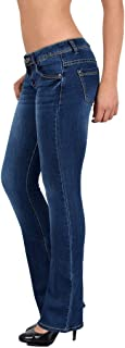 ESRA women's jeans, bootcut jeans, flatter, hip trousers, up to plus size AA