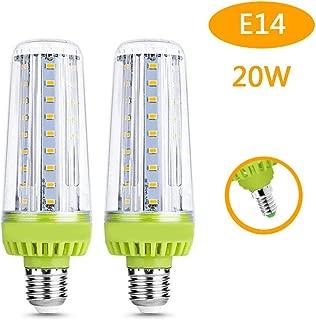 Felaaca LED Corn Light Bulb, LED Street Lighting, 2000 Lumens Replacement, 3000K Standard Socket E14 Led Lamps, (2 PCS),Coldwhite