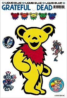 Liquid Blue Grateful Dead Yellow Dancing Bear - Bumper Sticker/Decal