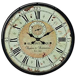 Plutus Brands Romanian Styled Antique Wall Clock