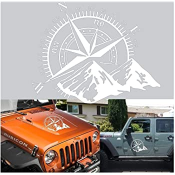 Compass Rose Navigate 4x4 Offroad Vinyl Decal Side Rear Window Sticker For Jeep