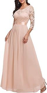 Ever-Pretty Women Elegant 3/4 Sleeve Empire Waist Maxi Bridesmaid Dresses 07412