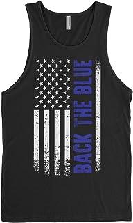 Threadrock Men's Back The Blue American Flag Tank Top