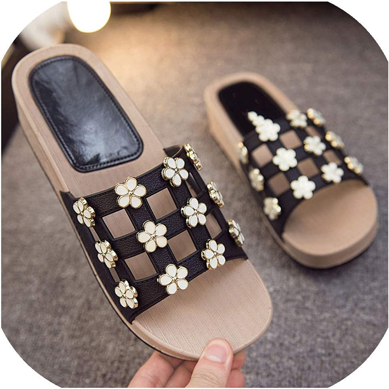 Women Slippers Wedges shoes Woman Platform Sandals Cut-Out Non-Slip Sole Female Slides Big,