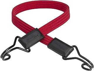Master Lock 3224EURDAT Cuerdas elásticas Planas con Ganchos, Cuerda Gancho de Doble Alambre, óptimo para Sujetar Cargas Pequeñas, Camping, Mudanzas, Rojo, 60 cm