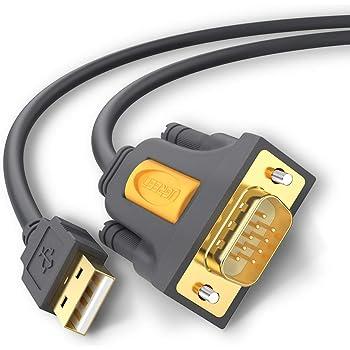 UGREEN USB シリアル変換ケーブル RS232 USB 9ピン 変換 シリアルケーブル D-sub9ピン Windows Mac OS両対応 2m
