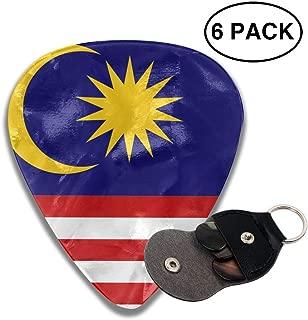 Yongchuang Feng Flag of Malaysia 351 Shape Classic Medium Celluloid Guitar Picks Bass Musical Instruments Plectrums 6-Pack