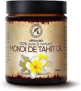 Aceite de Monoi de Tahiti 100ml - 100% Puro y Natural - Botella de Cristal - Cuidado Intensivo para el Rostro - Cuerpo - C...